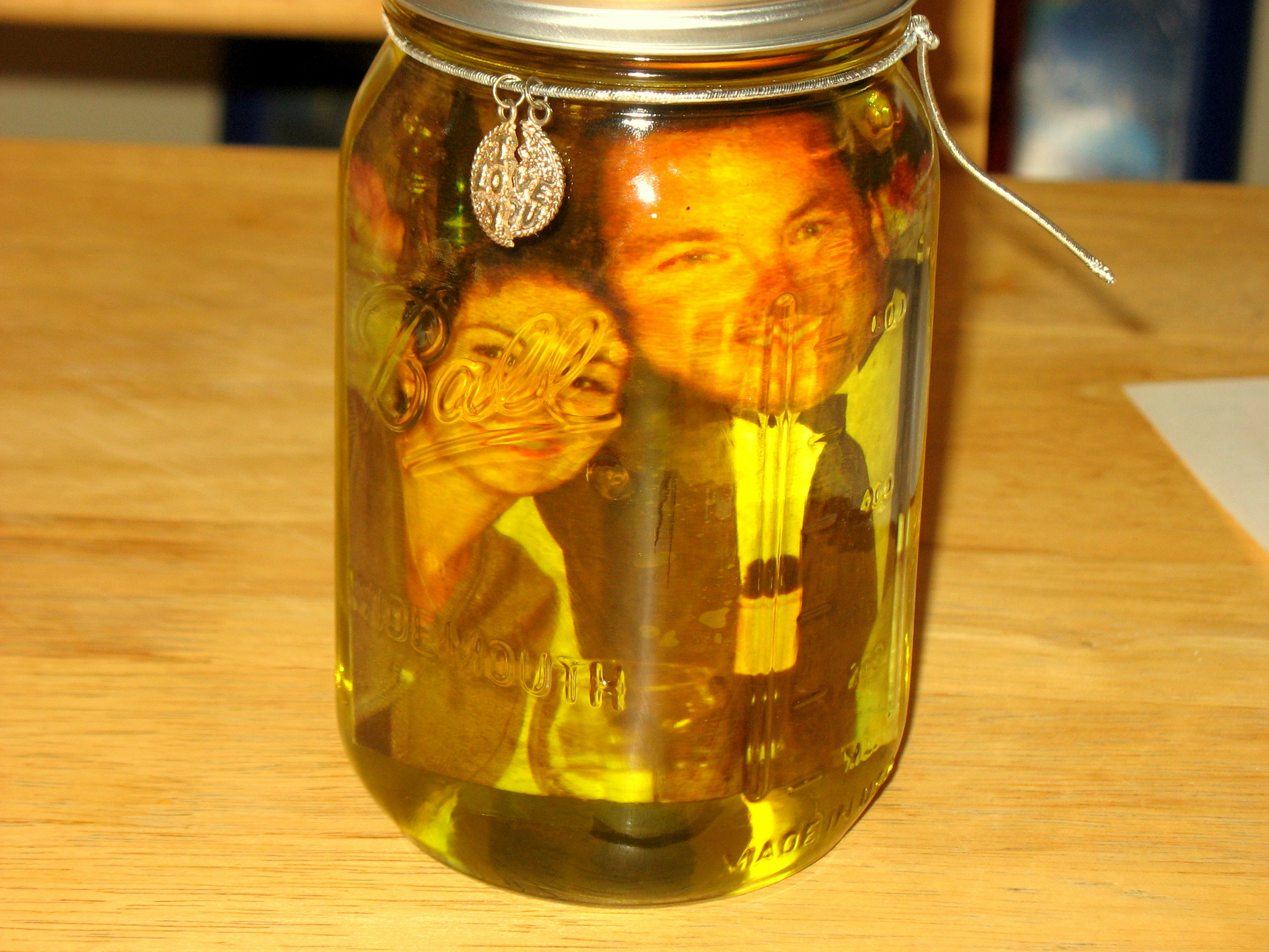 Olive Oil Mason Jar Picture Frame Our Life In Action
